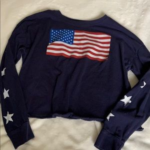 Navy blue long sleeves shirt Great dupe for brandy